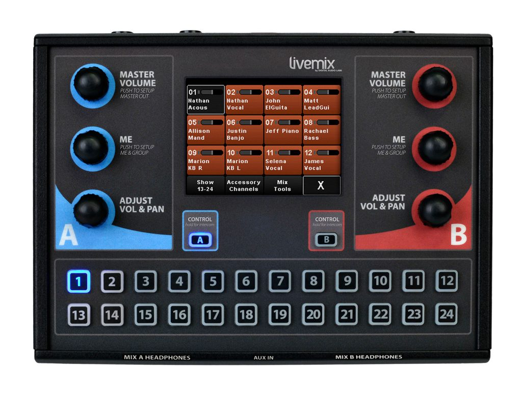 Livemix CS-DUO Two Mix Personal Mixer Mirror Mix Image