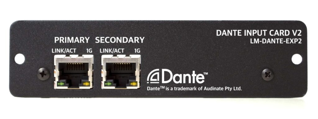 Livemix Personal Monitor System Dante Option Card For Mix-16 And Mix-32
