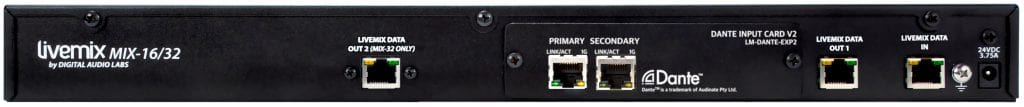 Livemix MIX-32 Central Mixer Distributor For Livemix In-ear Monitoring System Audinate Dante Image