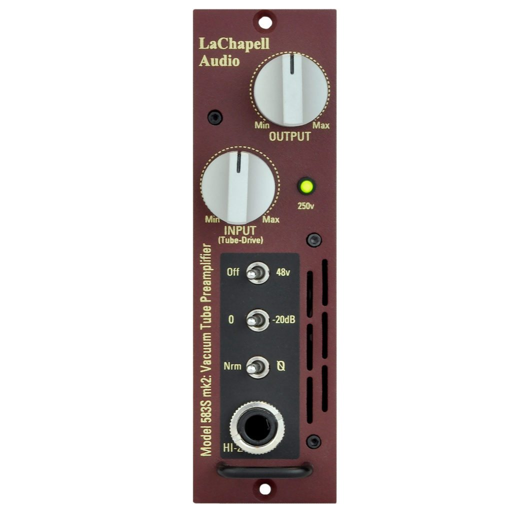 LaChapell Audio 583S 500 Series Tube Microphone Preamp Front Image