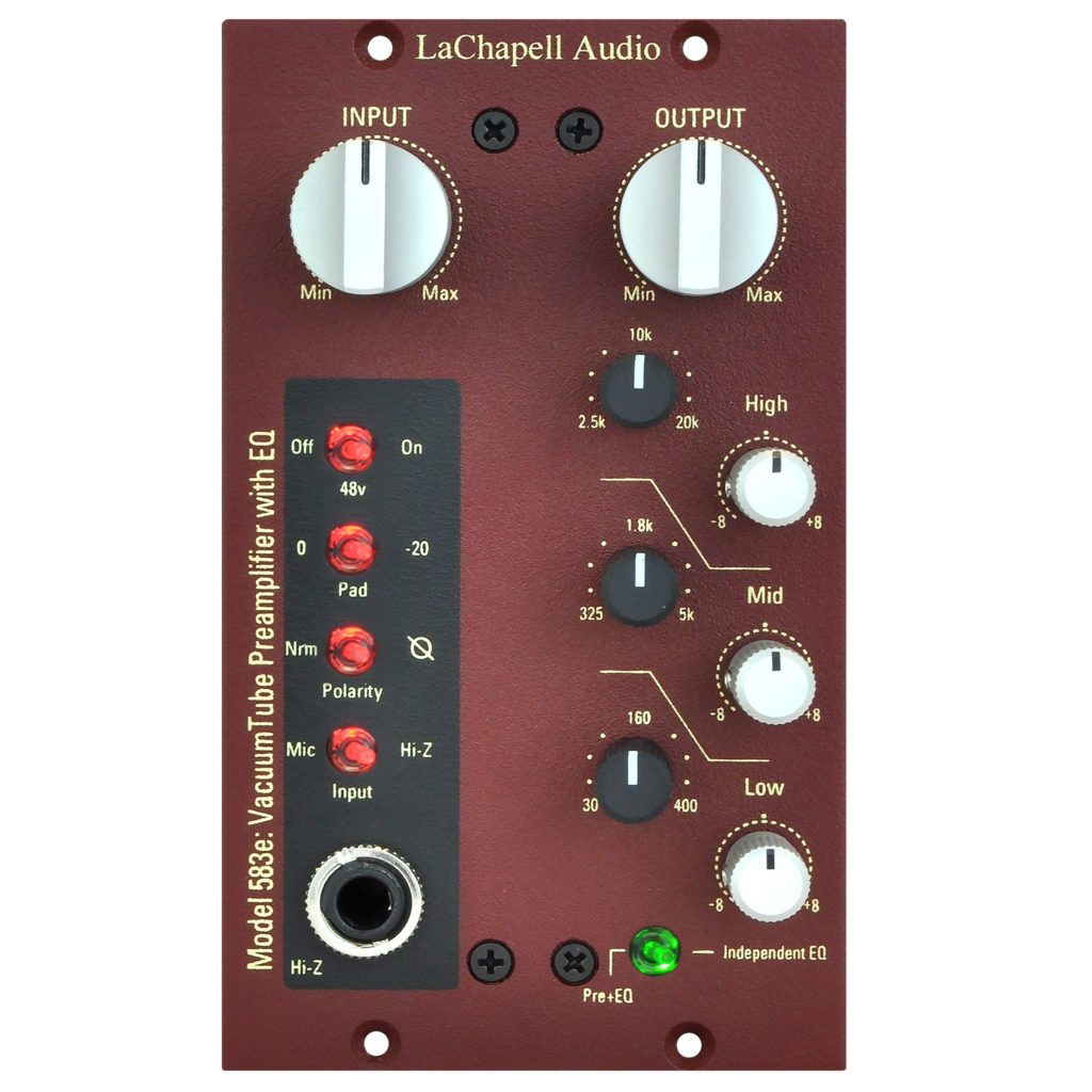 LaChapell Audio 583e 500 Series Tube Microphone Preamp With Integrated EQ Front Image