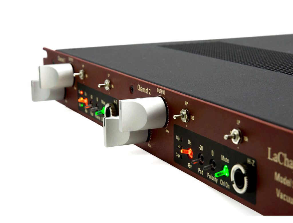 LaChapell Audio 983S Two Channel Tube Mic Pre Rack Unit Angled Image