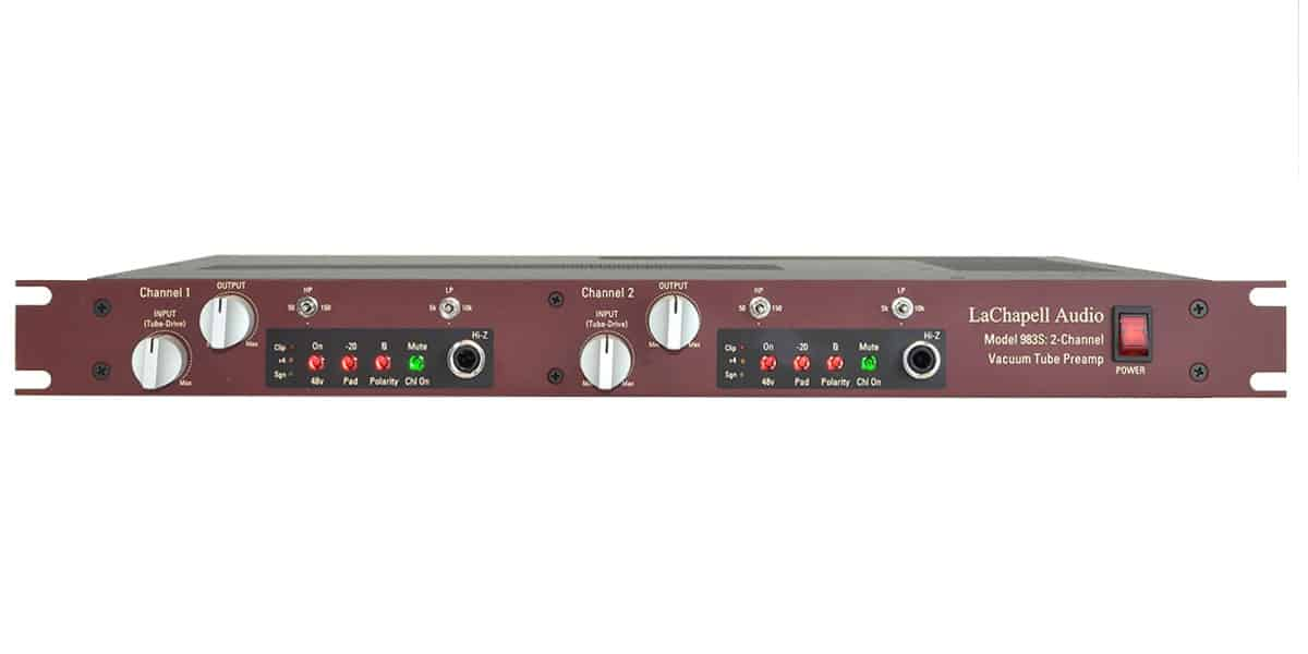 LaChapell Audio 983S two channel tube mic preamp
