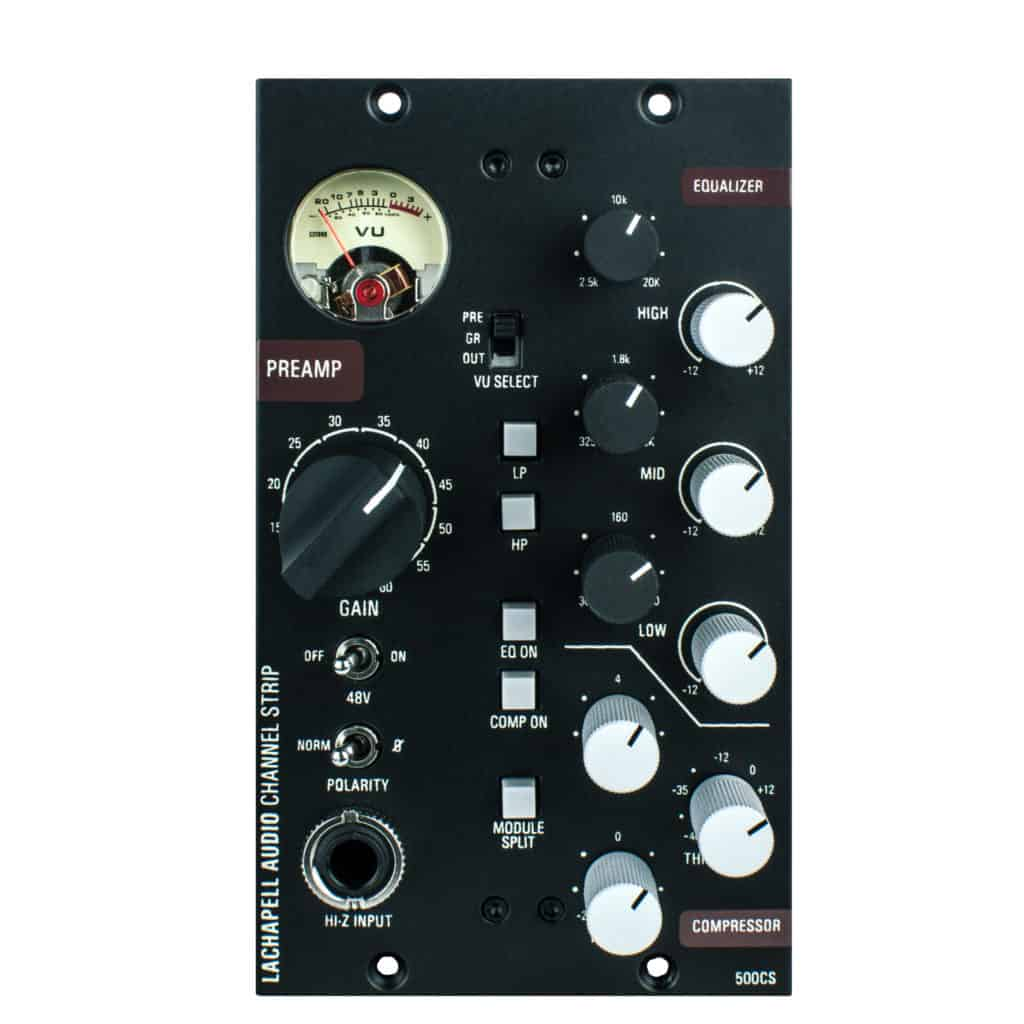 LaChapell Audio 500CS Channel Strip With Microphone Preamplifier, EQ And Compressor - Front Panel
