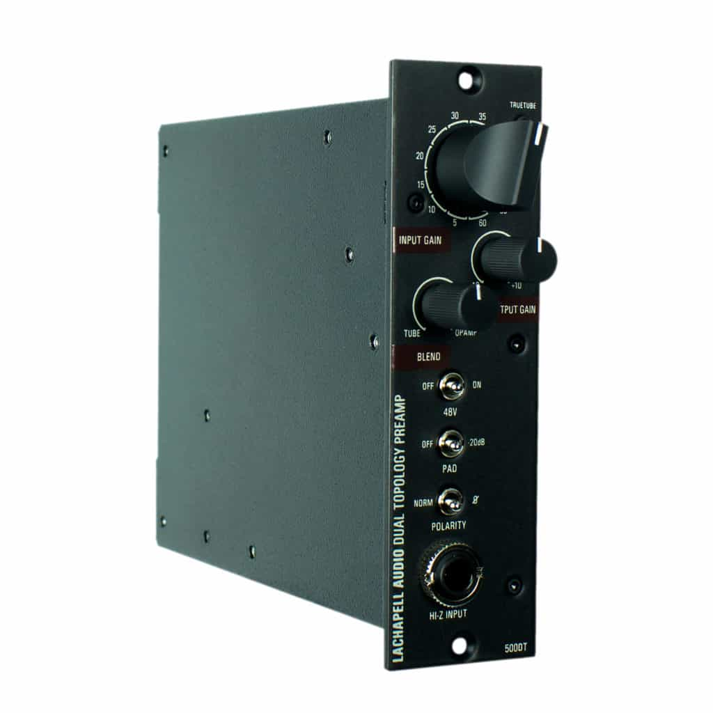 LaChapell Audio 500DT 500 Series Dual Topology Mic Preamp Left Angle