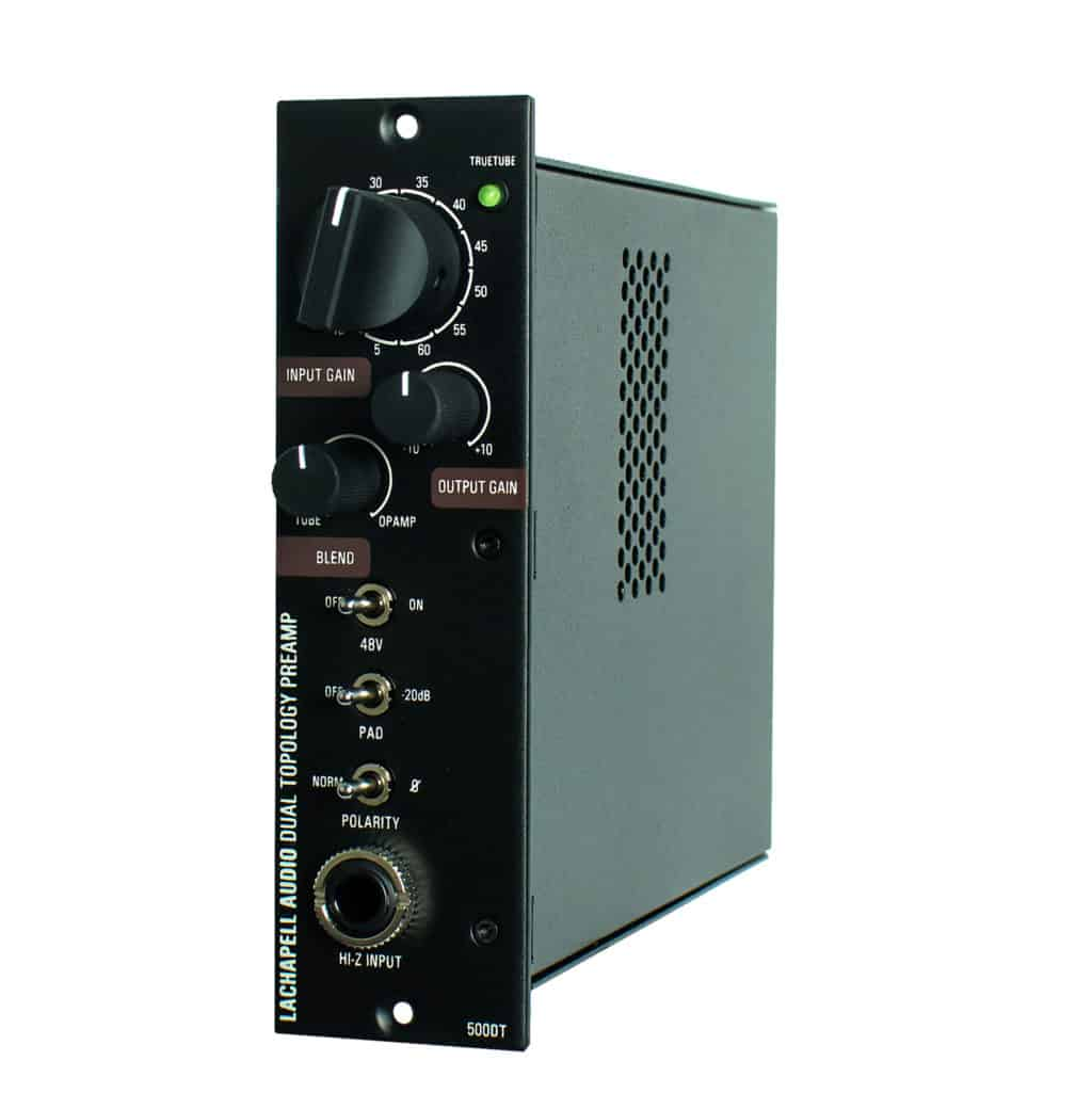 LaChapell Audio 500DT 500 Series Dual Topology Mic Preamp Right Angle