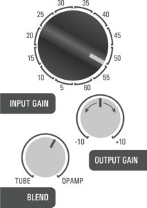 500DT Dual Topology tube preamp hybrid - bass example