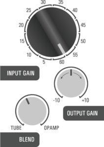 500DT Dual Topology tube preamp hybrid - guitar modeler example