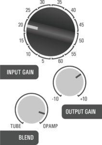 500DT Dual Topology tube preamp hybrid - kick example